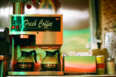 Fresh coffee and old milk, Brooklyn, NY