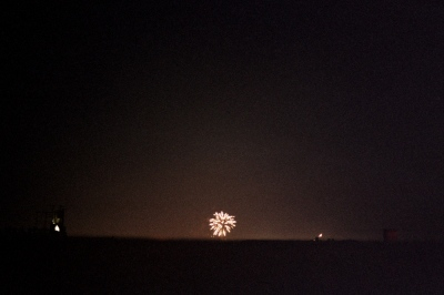 A firework from the roof, Brooklyn, NY