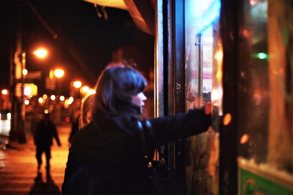 Kelly at the corner bodega, Brooklyn, NY