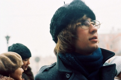 Denis in the cold, Moscow, Russia