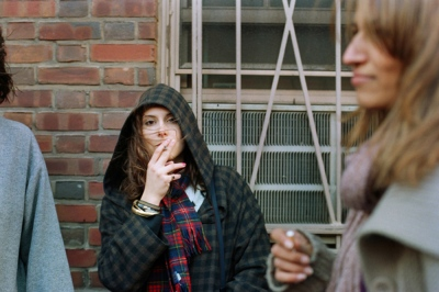 Michele smoking, New York, NY