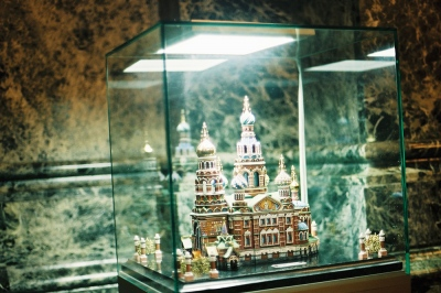 A miniature of a church inside the church, Moscow, Russia