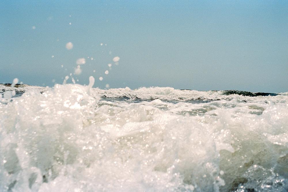 Waves crashing at Horse Neck, Westerly, RI