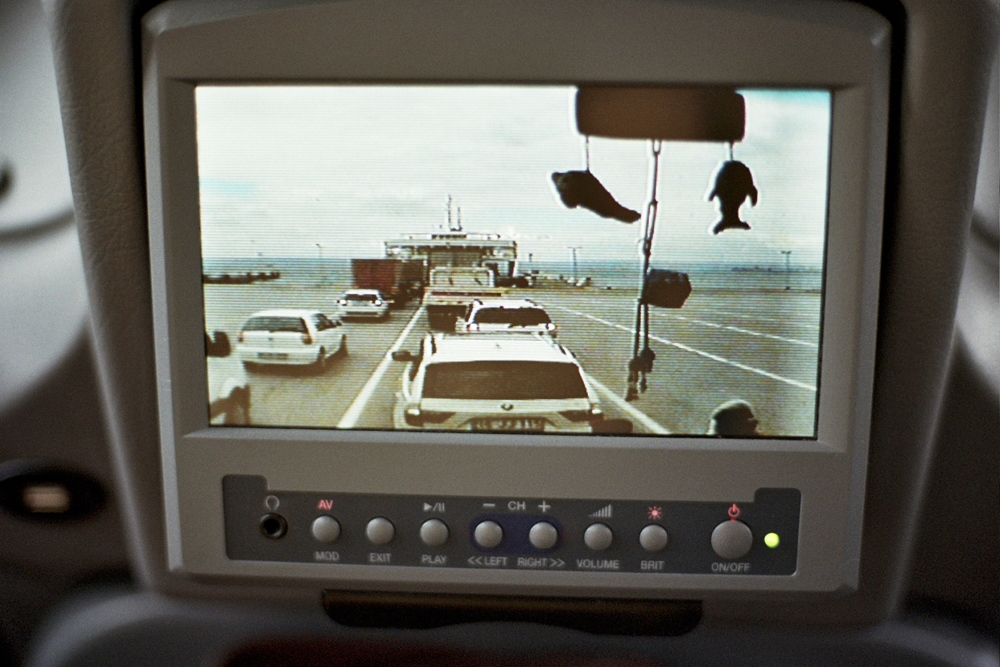 View through the dashboard camera, Istanbul, Turkey