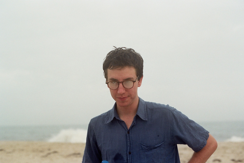 Charlie with fogged glasses, Southampton, NY