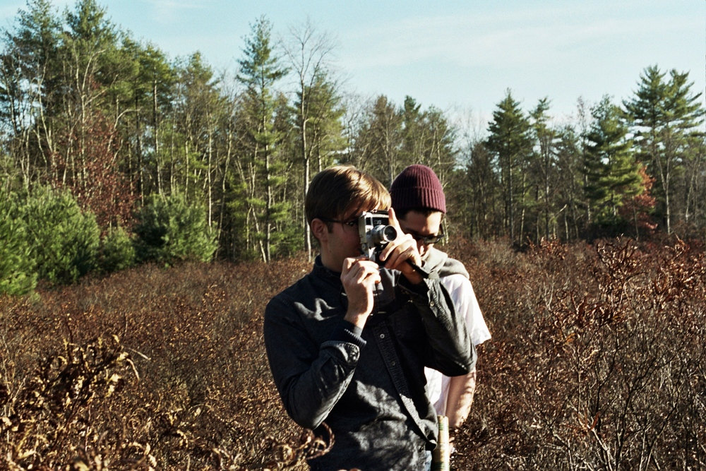 Denis and Malcolm in a field, Upstate New York