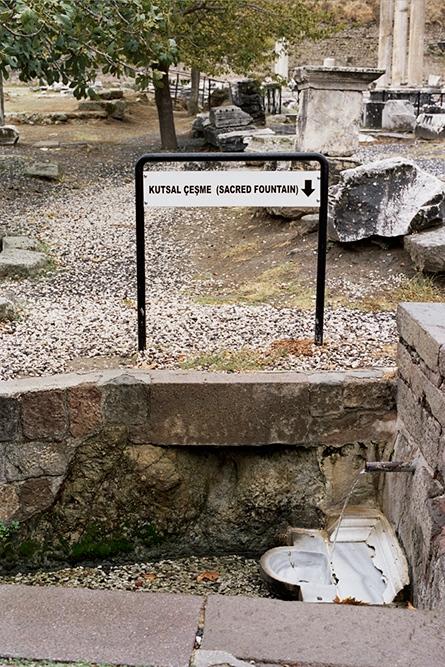 The sacred fountain, Bergama, Turkey