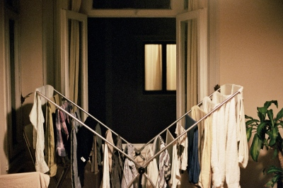 Clothes drying, Istanbul, Turkey