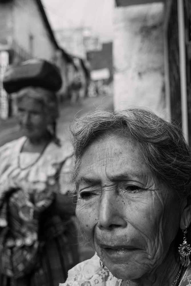 The late Rosa Tuch Garcia (foreground) and the late Manuela Tuch, San Pedro, Guatemala