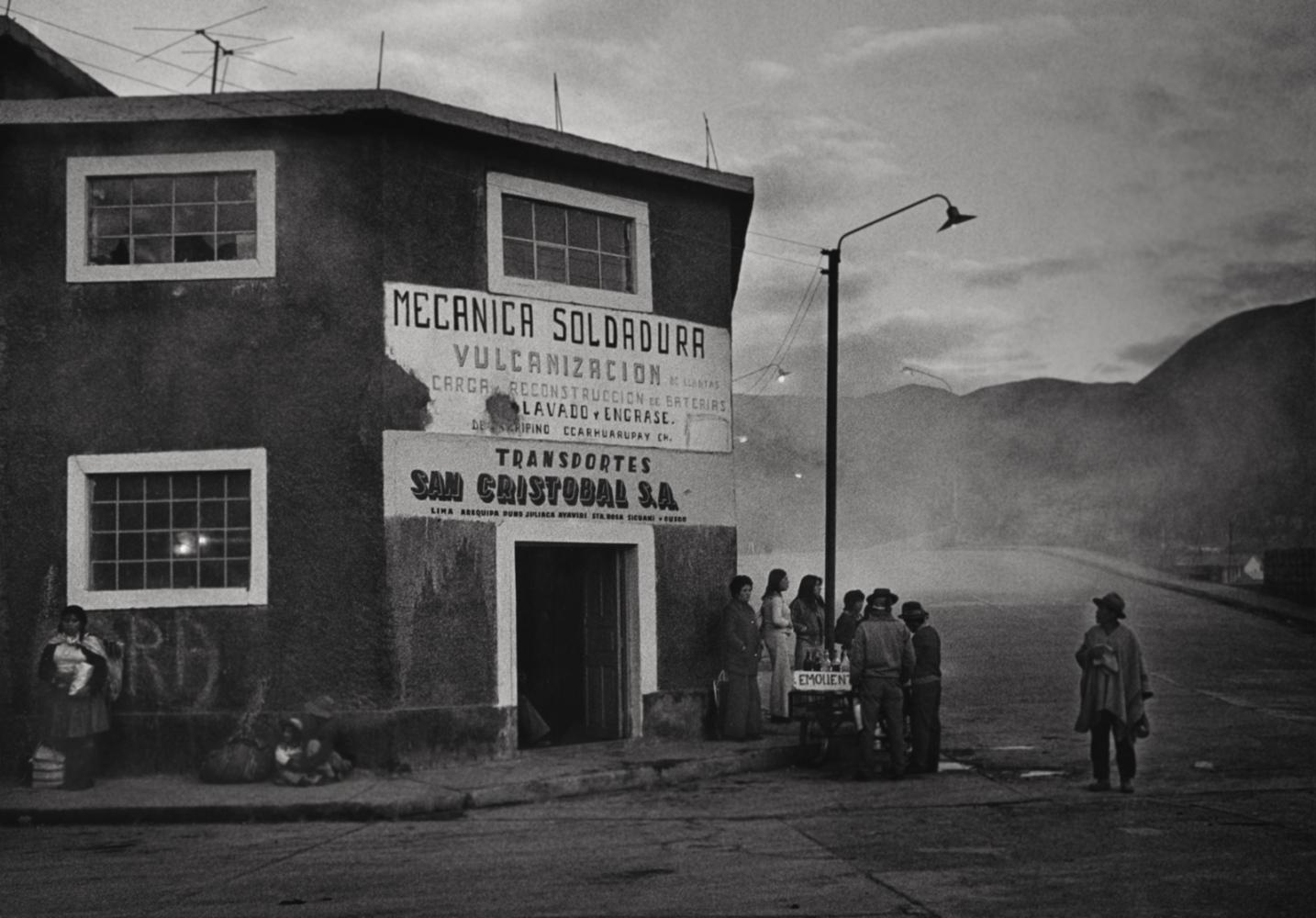 Bus Stop, Sicuane, Peru