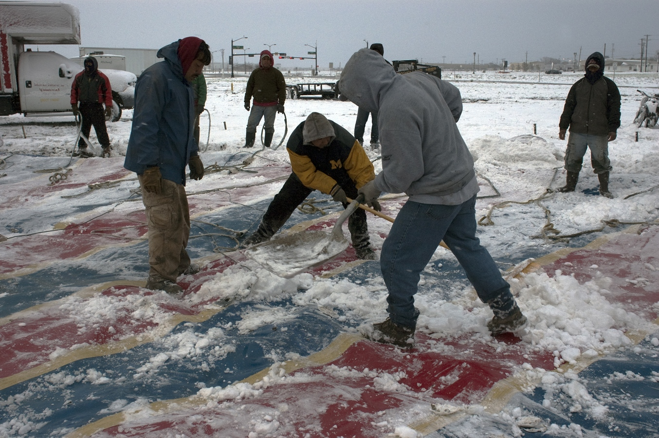 Art and Documentary Photography - Loading snow tent crew#3.jpg