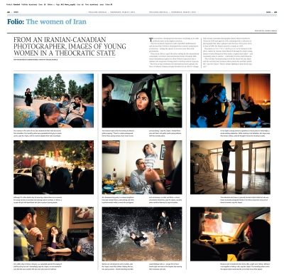 BEYOND THE VEIL, The Globe and Mail (Canada) - 2012