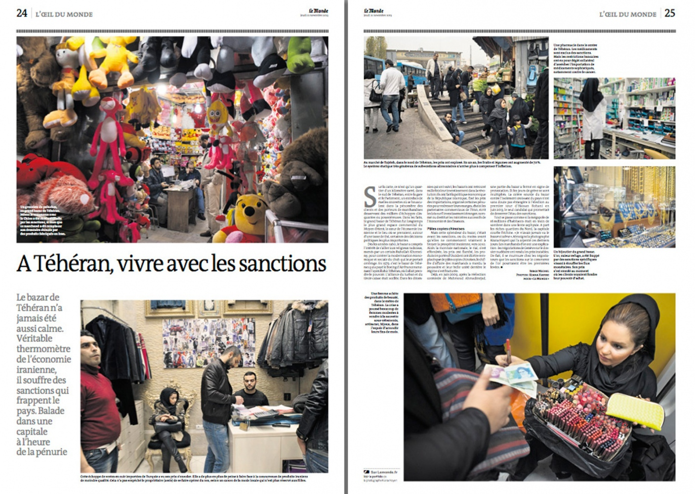 IRAN UNDER SANCTIONS, Le Monde (France) - 2013