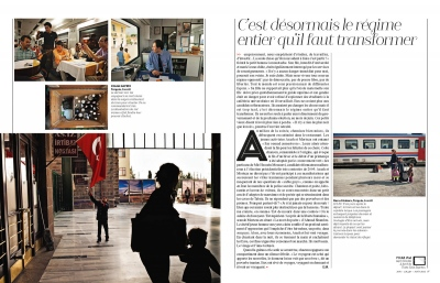 TEHRAN-ANKARA TRANSASIA TRAIN, Polka Magazine (France) - 2013