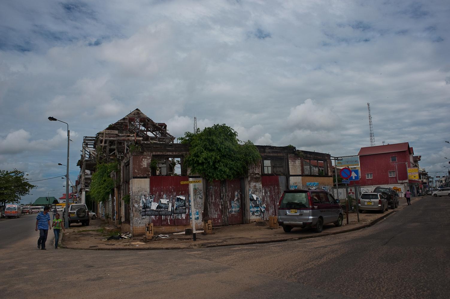 Street corner in Paramaribo