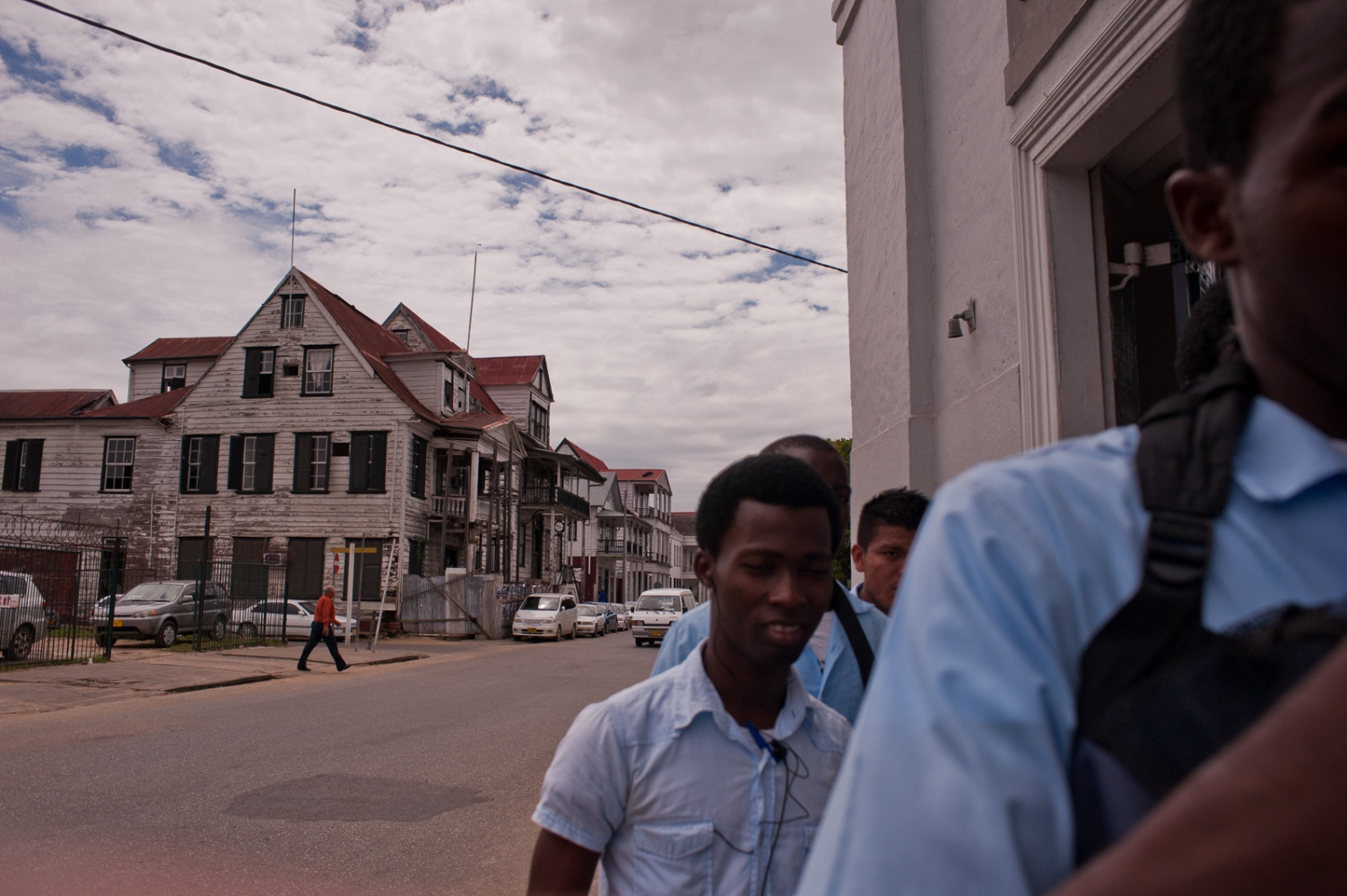 Schoolboys in Paramaribo
