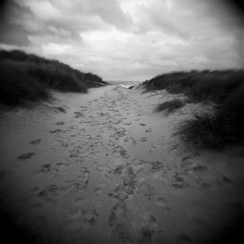 Access path to Utah Beach, Normandy, France.