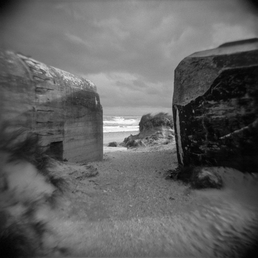 Destroyed bunkers near Utah Beach, Noramandy, France.