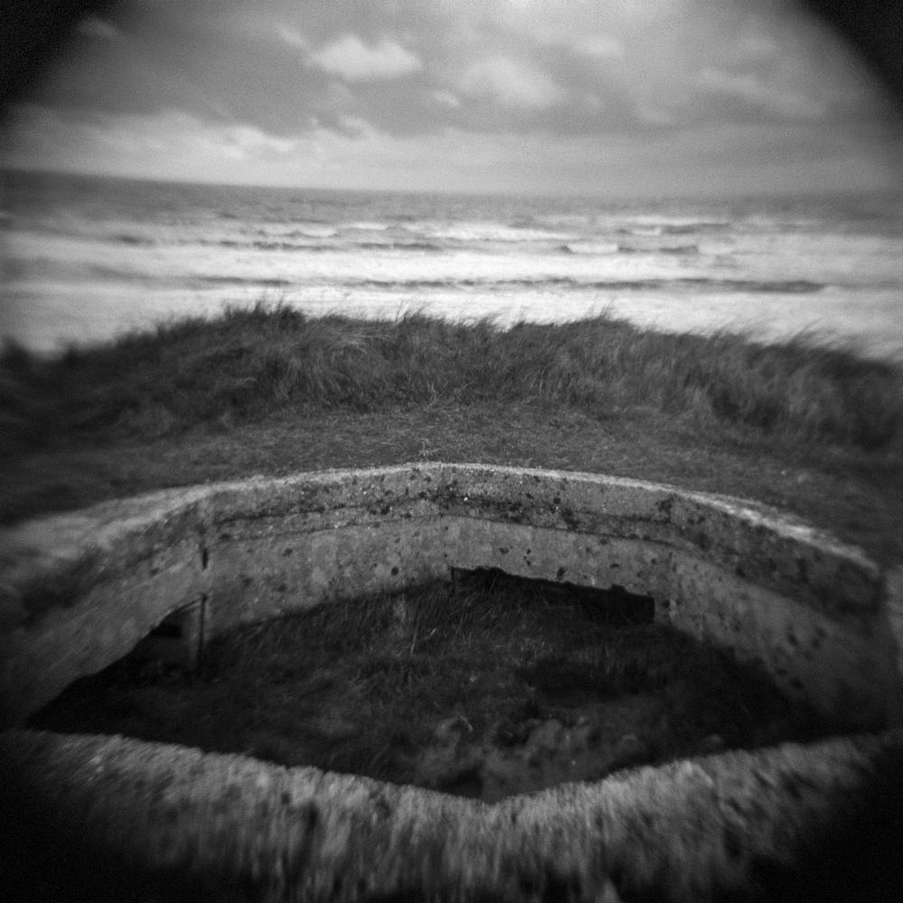Machine gun nest in Utah Beach, Normandy, France.