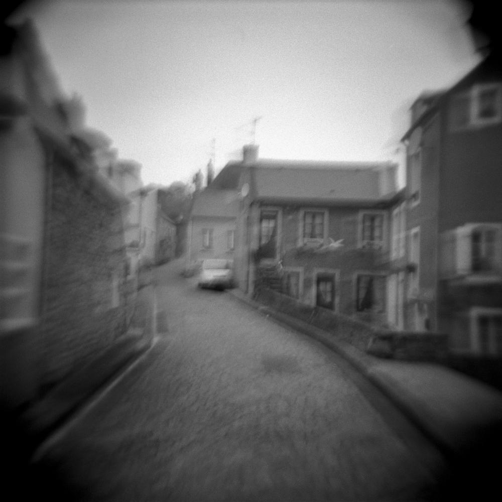 A street in Port en Bessin, Normandy, France.