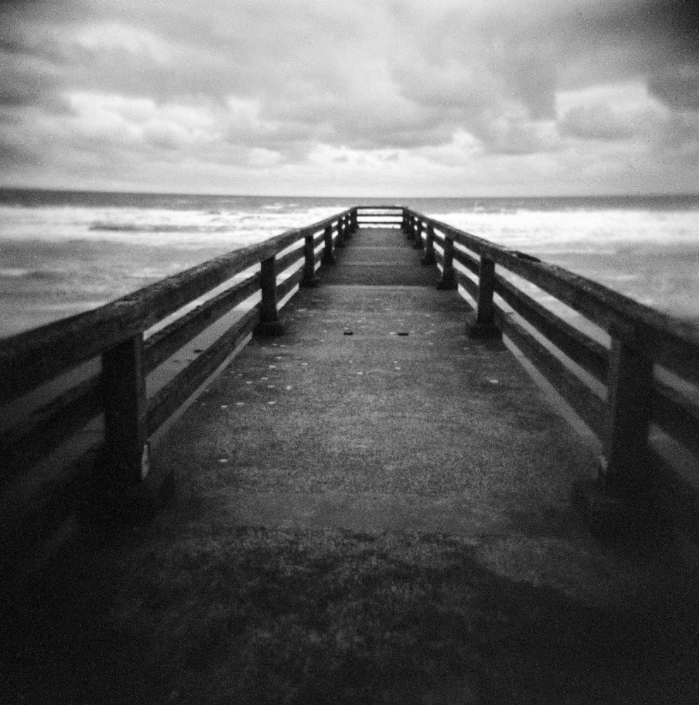 Dock in Omaha Beach, Normandy, France.