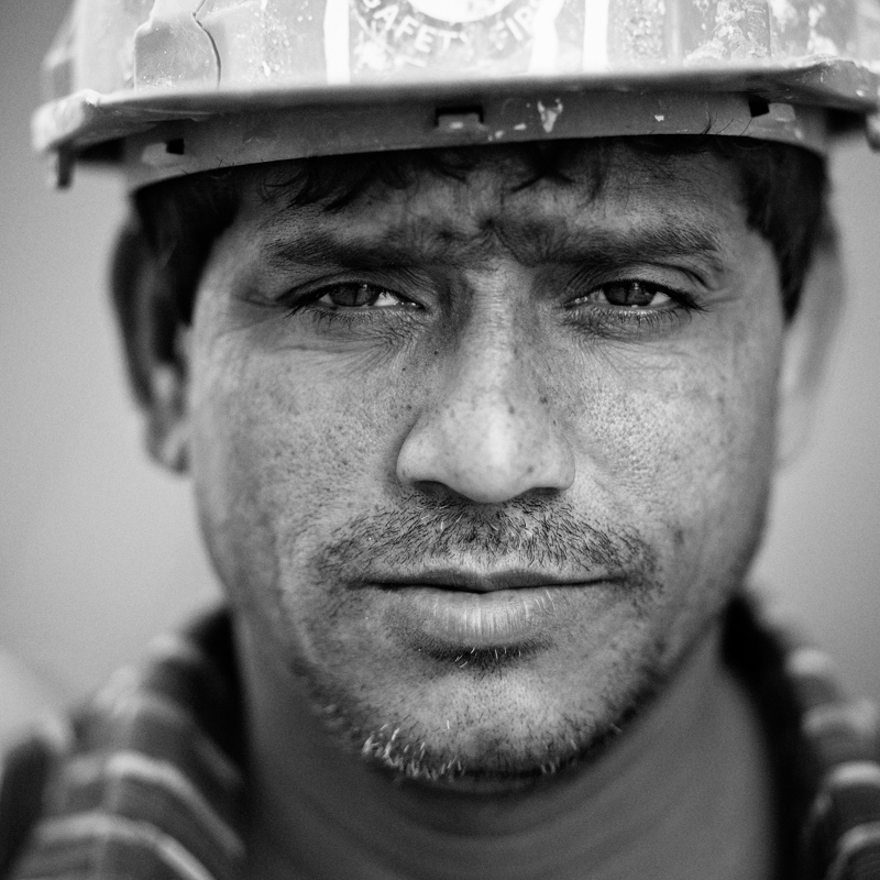 A construction worker from Bangladesh.