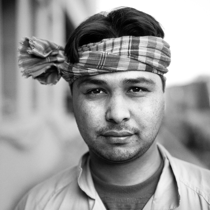 A construction worker from India.