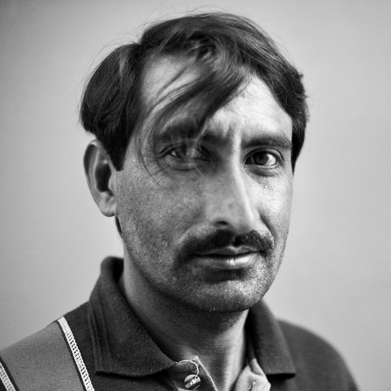A construction worker from Pakistan .