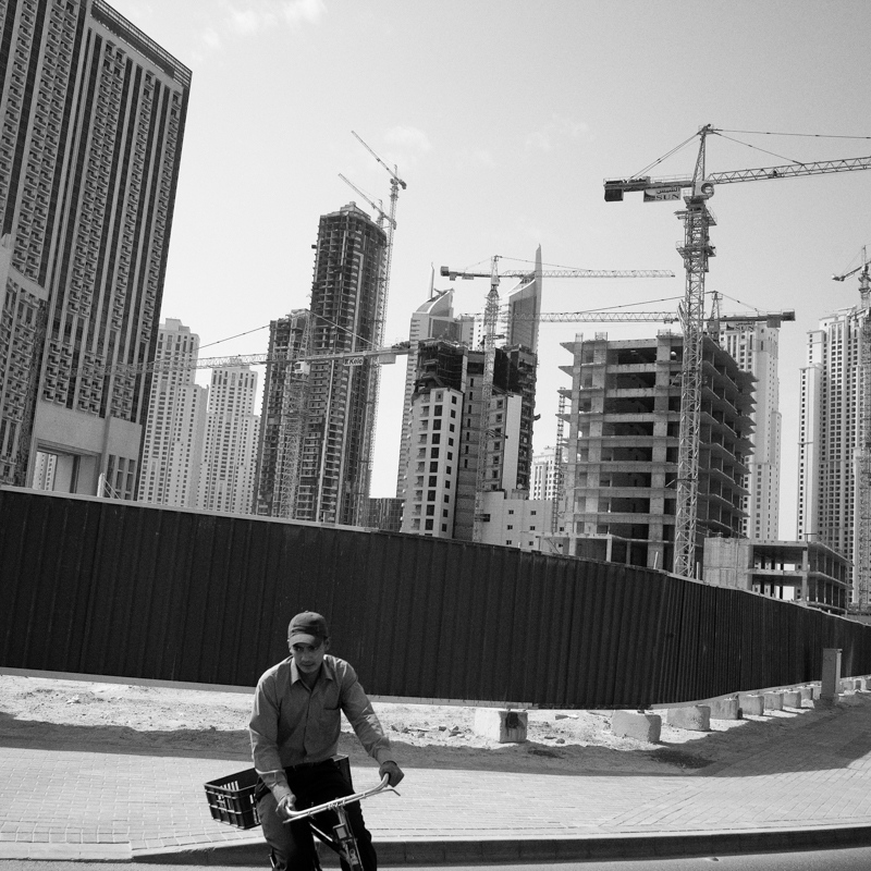 Construction at the Dubai Marina.