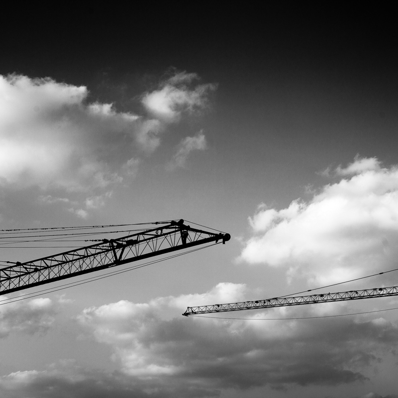 Construction cranes, the most common sight of Dubai.