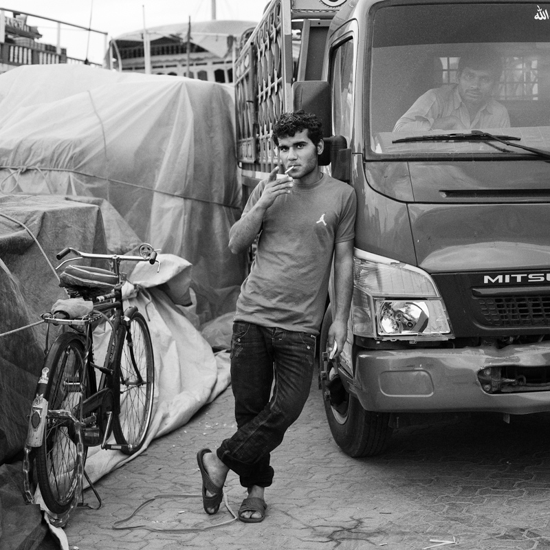 A dockworker from Iran.
