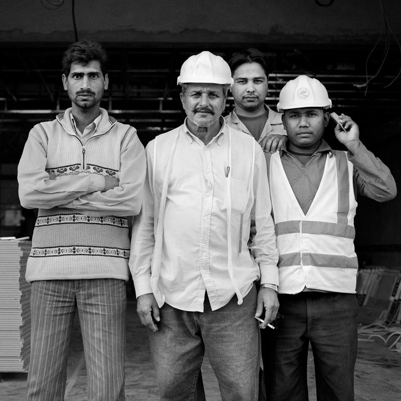 Foremen at a construction site.