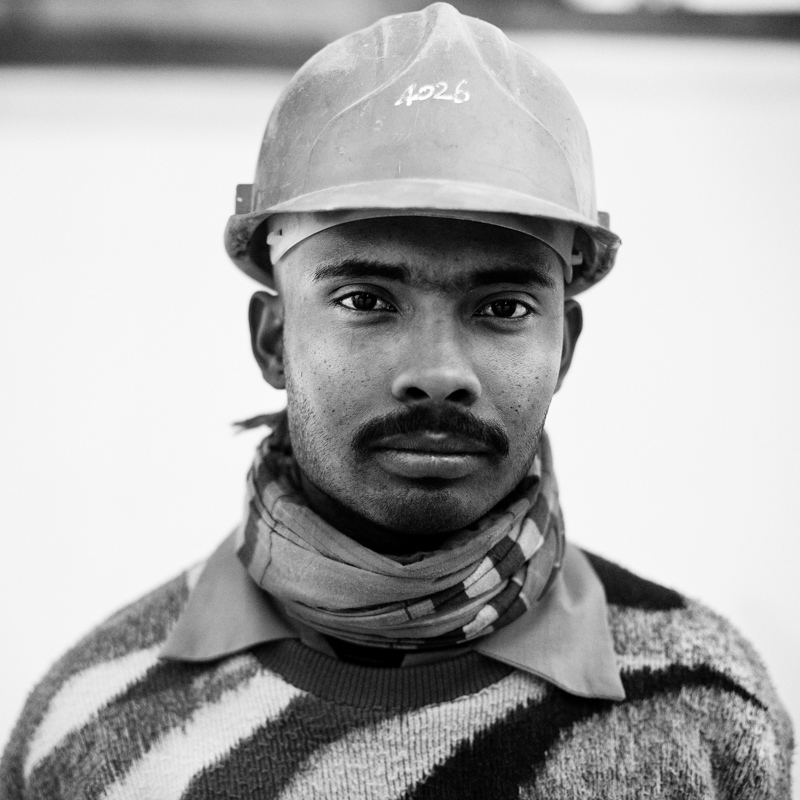 A construction worker from Pakistan.