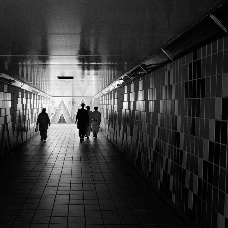 Underground walkway.