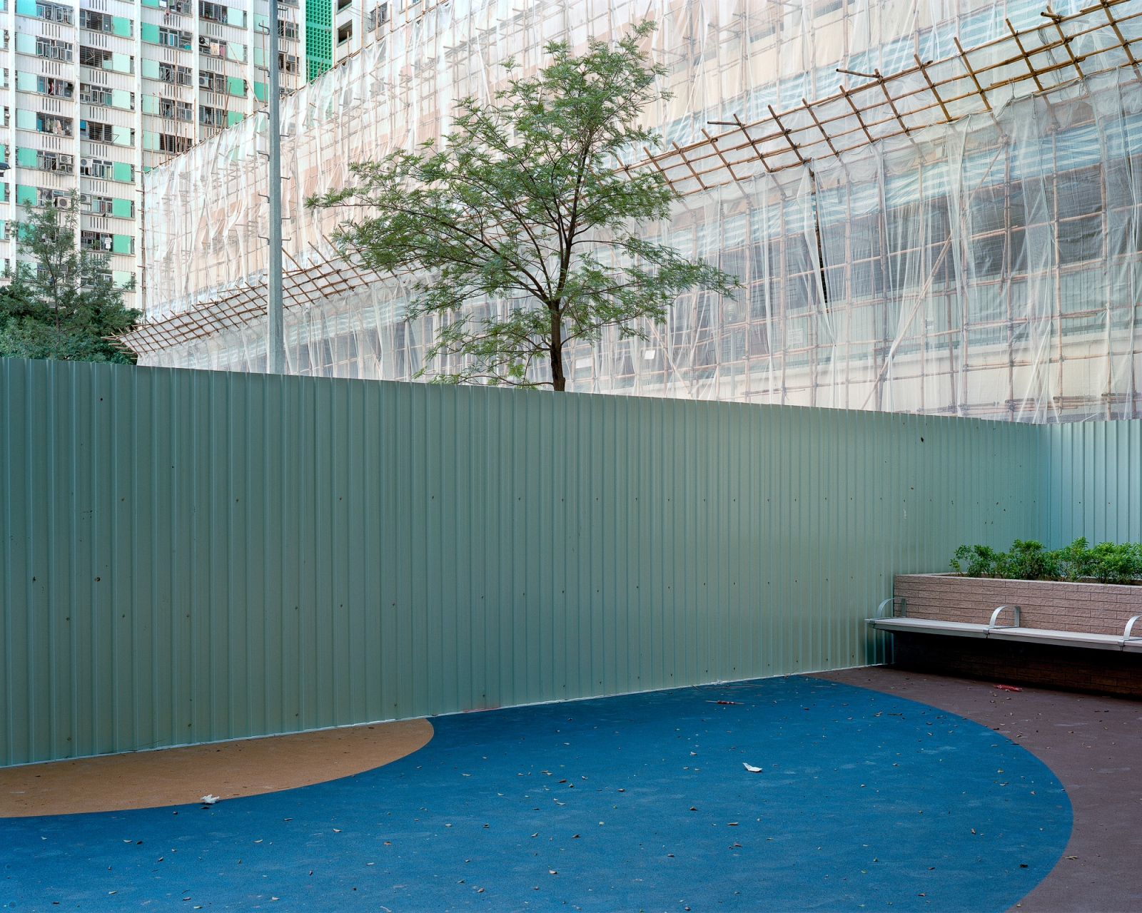 "Folded restaurant #3, Ping Shek Estate, 8/2012 Archival Pigment Inkjet Print 28.8"" x 36"" / 40"" x 50"""