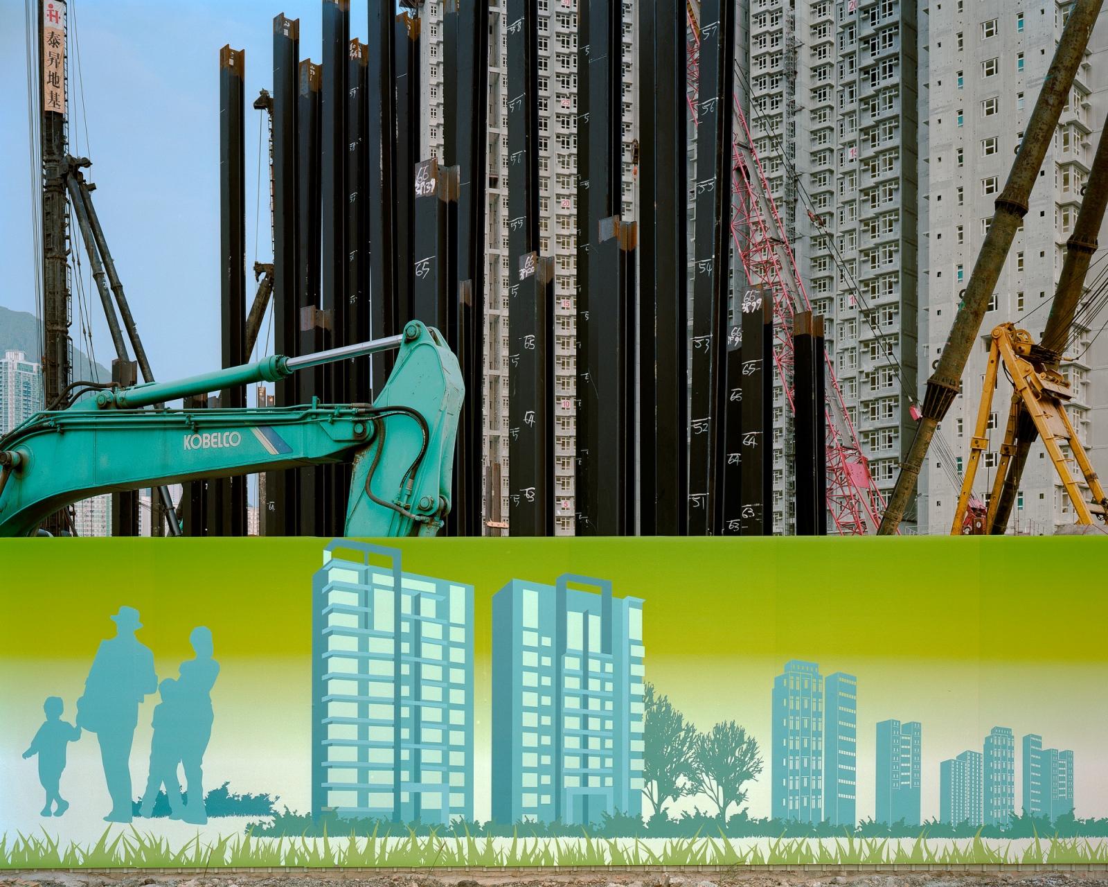 "Kai Tak Development Zone #2, 10/2012 Archival Pigment Inkjet Print 28.8"" x 36"" / 40"" x 50"""