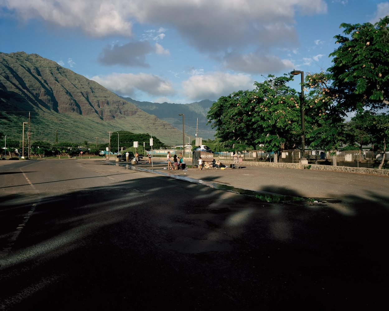 Parking Lot with Children, Hawaii 2014