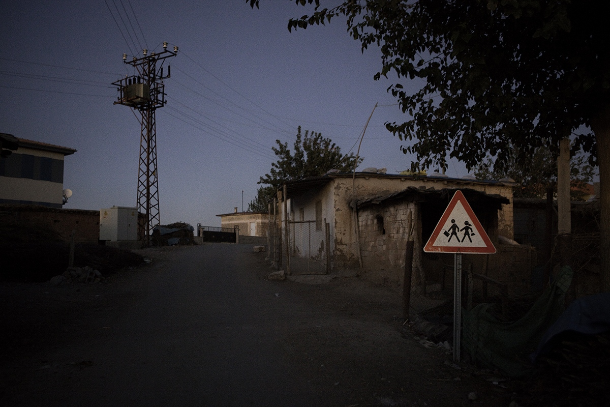 Entrance to a primary school in a rural village of Batman province.