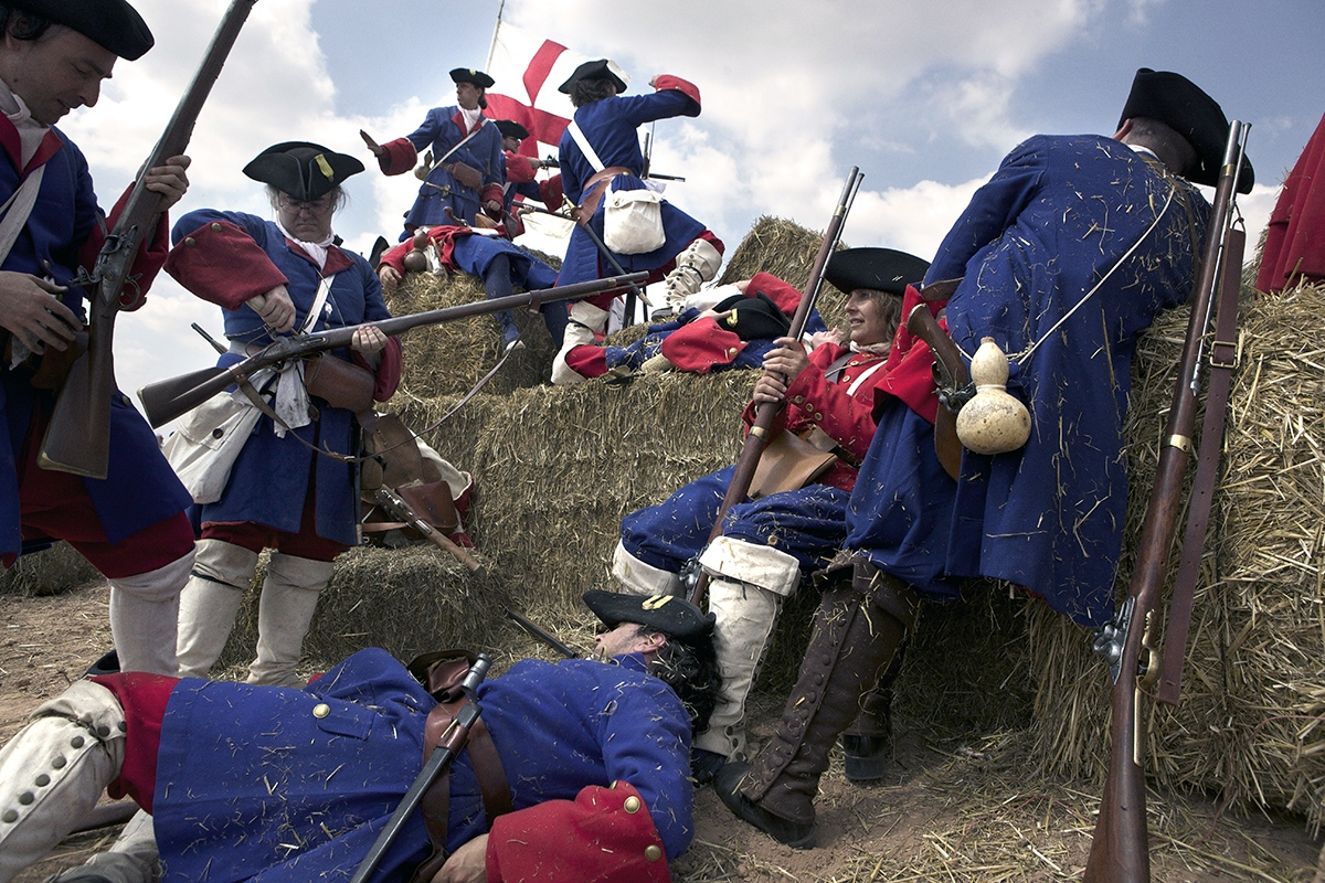 Representation of Prats de Rei battle, one of the many commemorations of 1714 battles held in 2014.