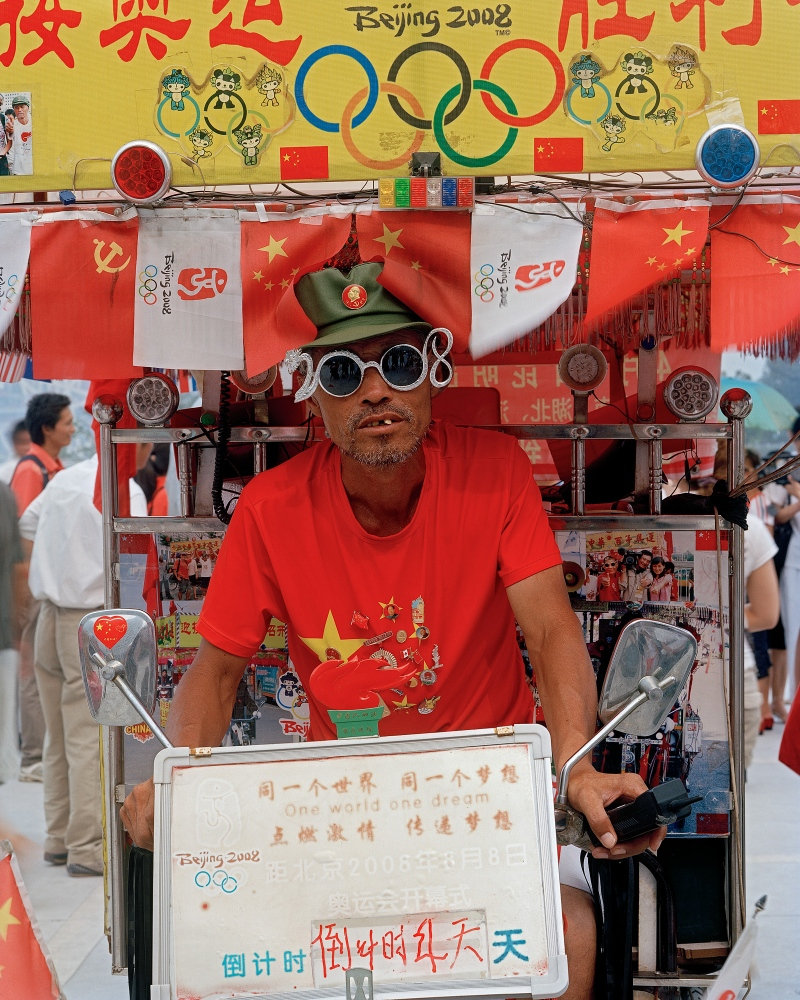 Shi Changlin, 56, a Heilongjiang native, rode his decorated tricycle to Beijing for over 3600 km from Yunnan province where he ran a small business.