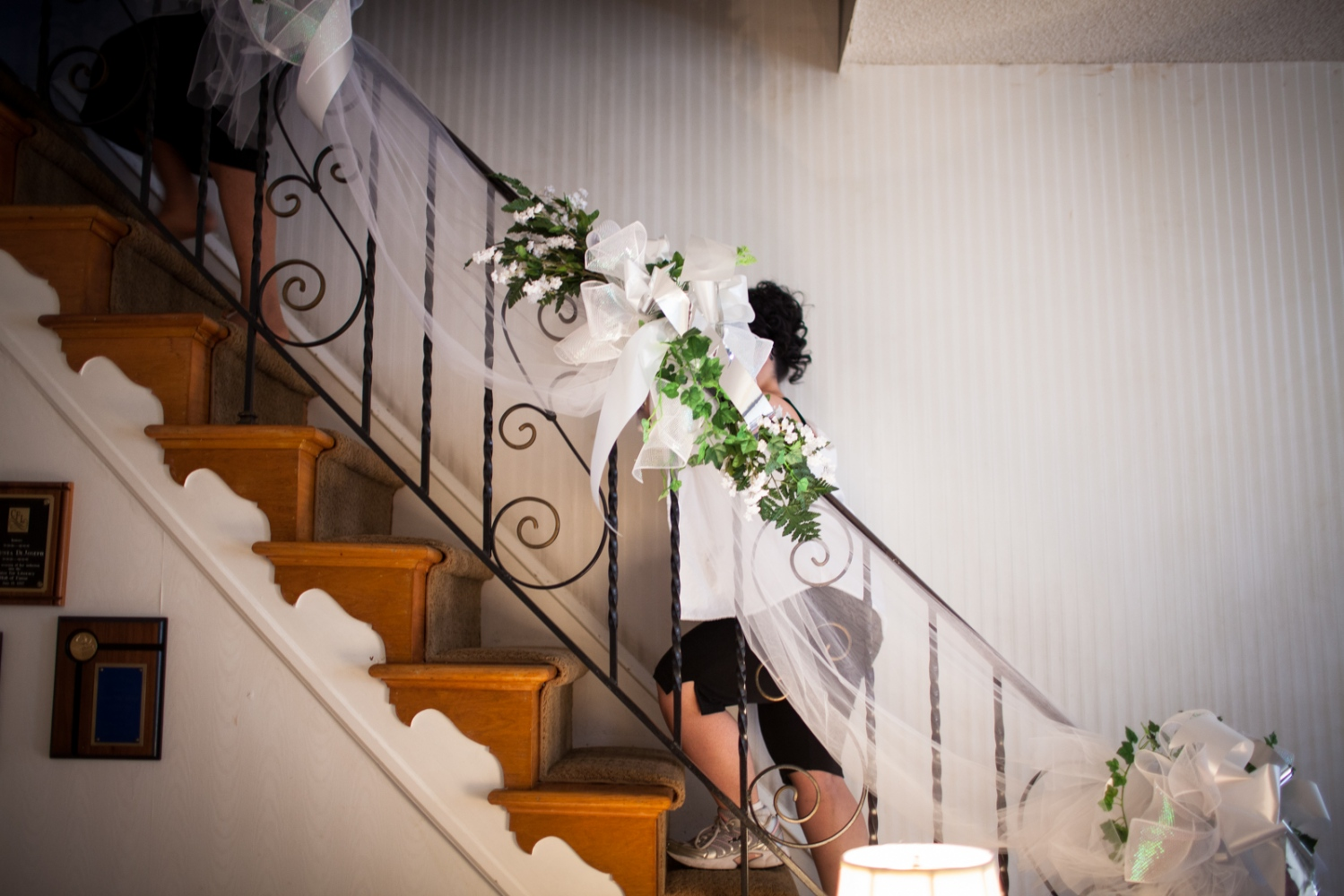 "The women head upstairs to help Ricchina into her ""wedding gown."""