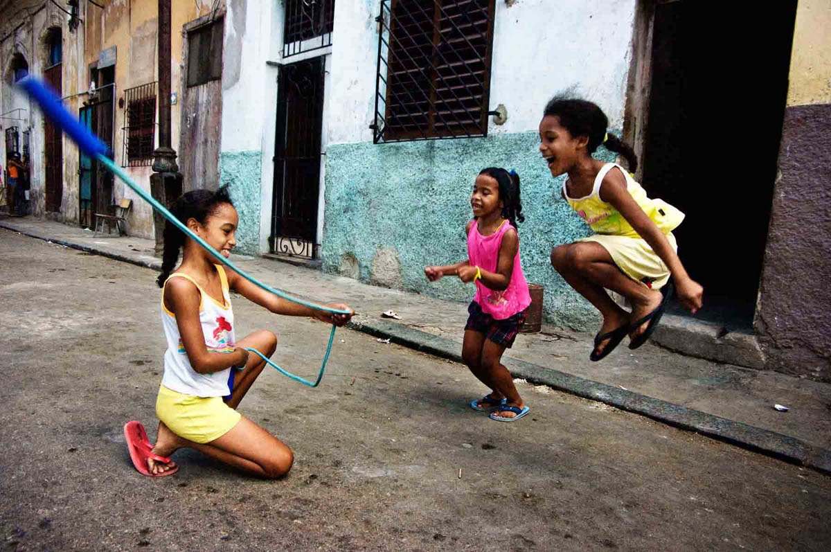 Cuban girls in Havana, Cuba