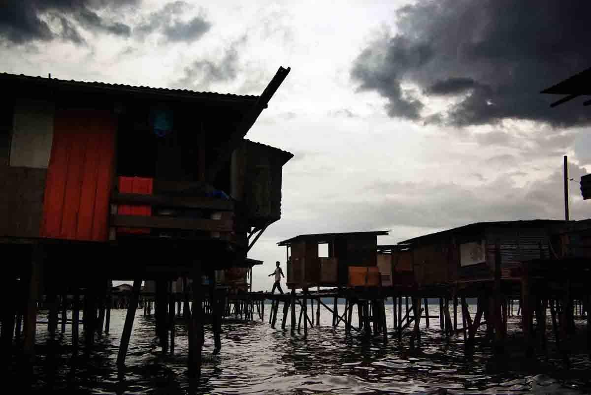 Water village near Kota Kinabalu Malaysian, Borneo