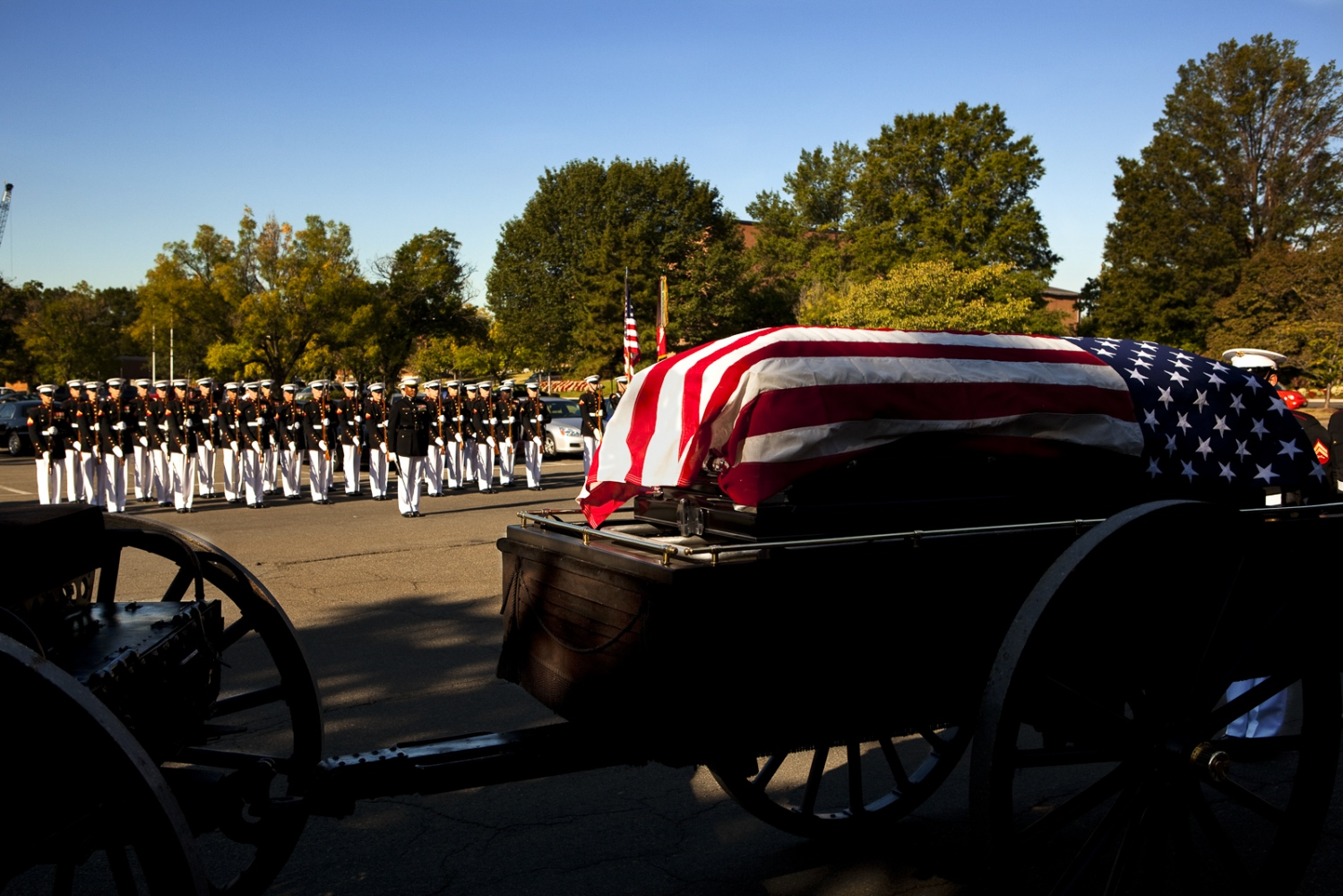 Funeral caisson, Arlington National Cemetery