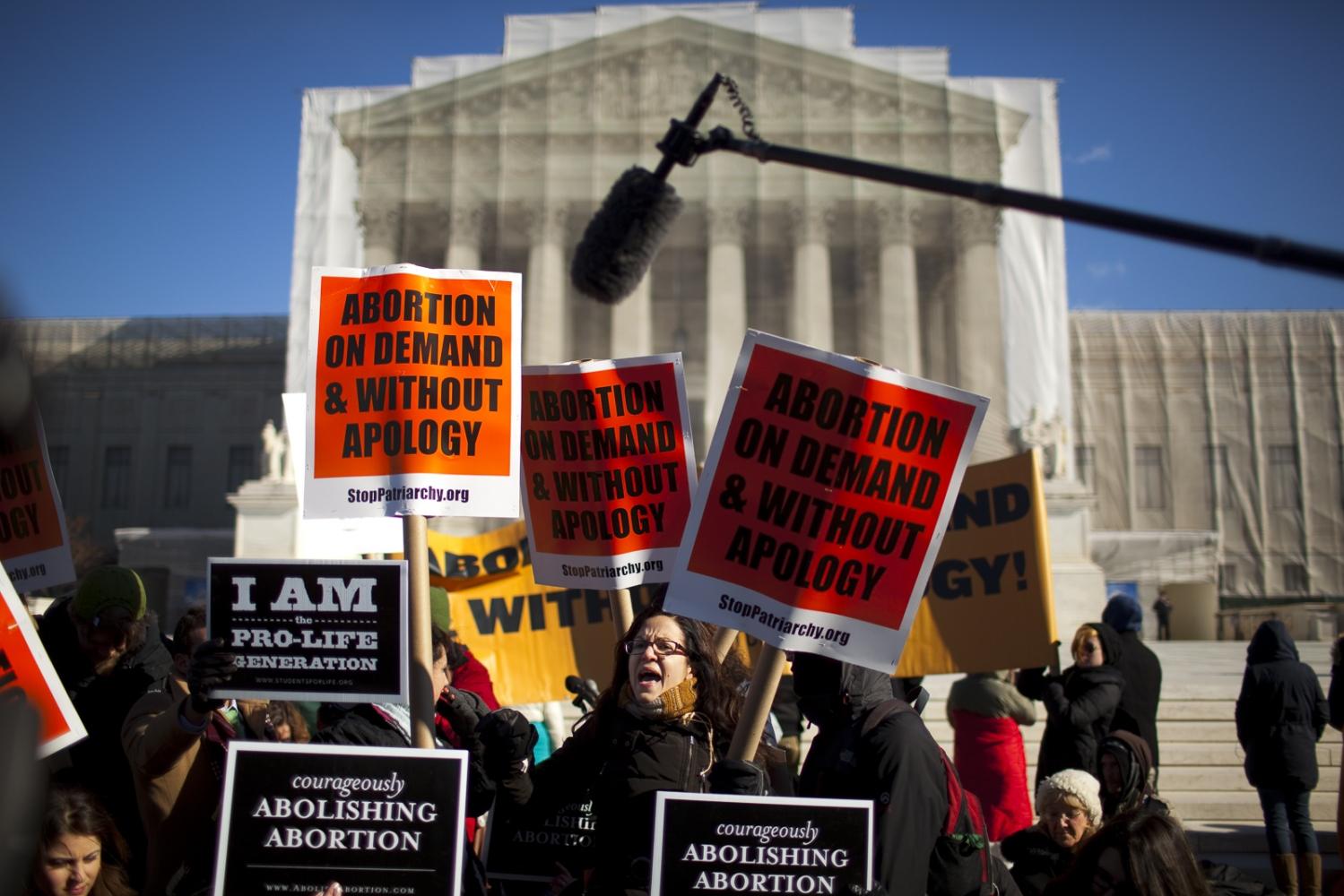 Rally, U.S. Supreme Court building