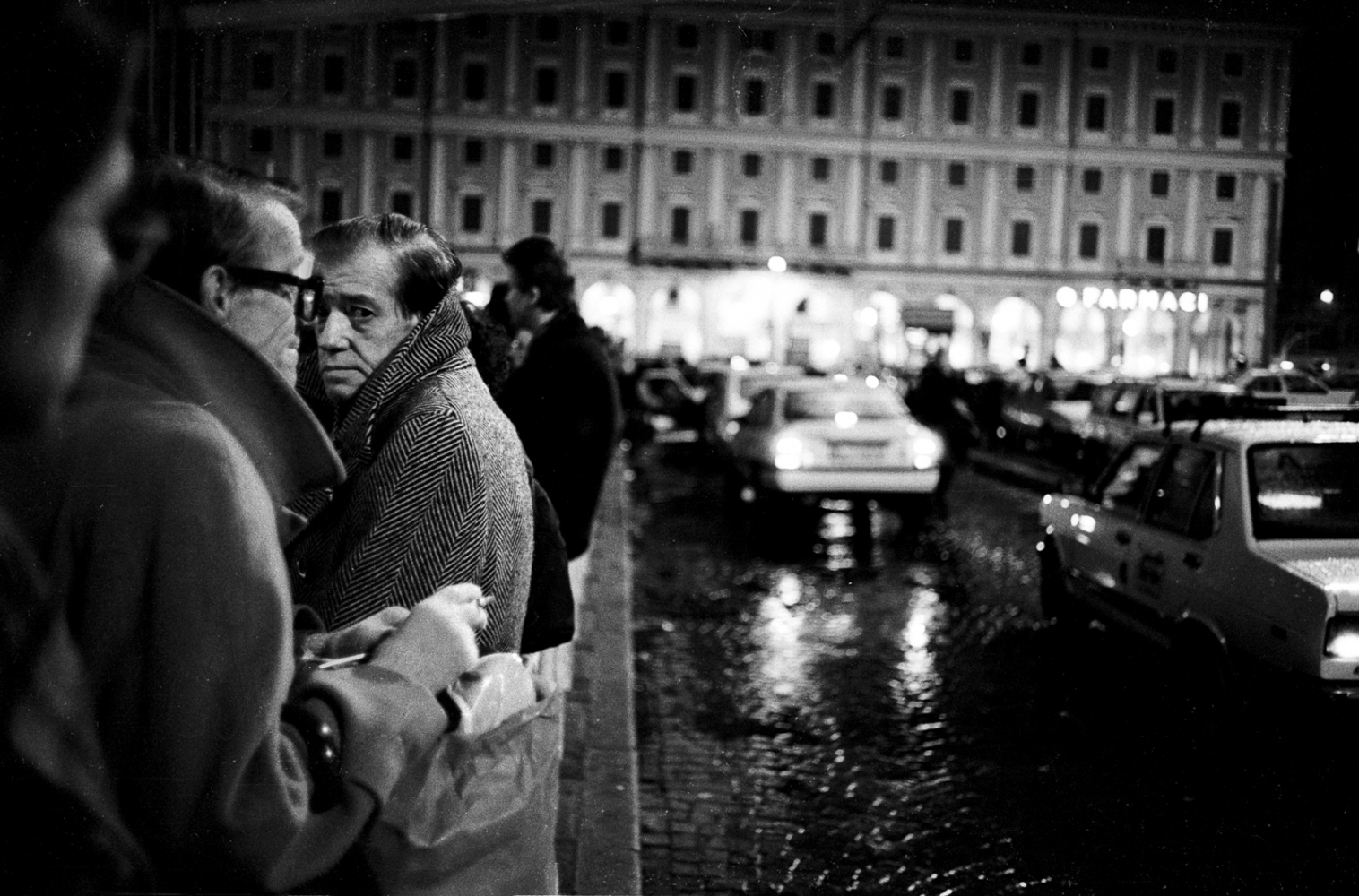 Taxi stand, Rome.