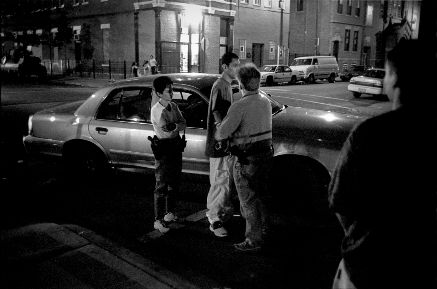 Alex is picked up by the police on 18th street.