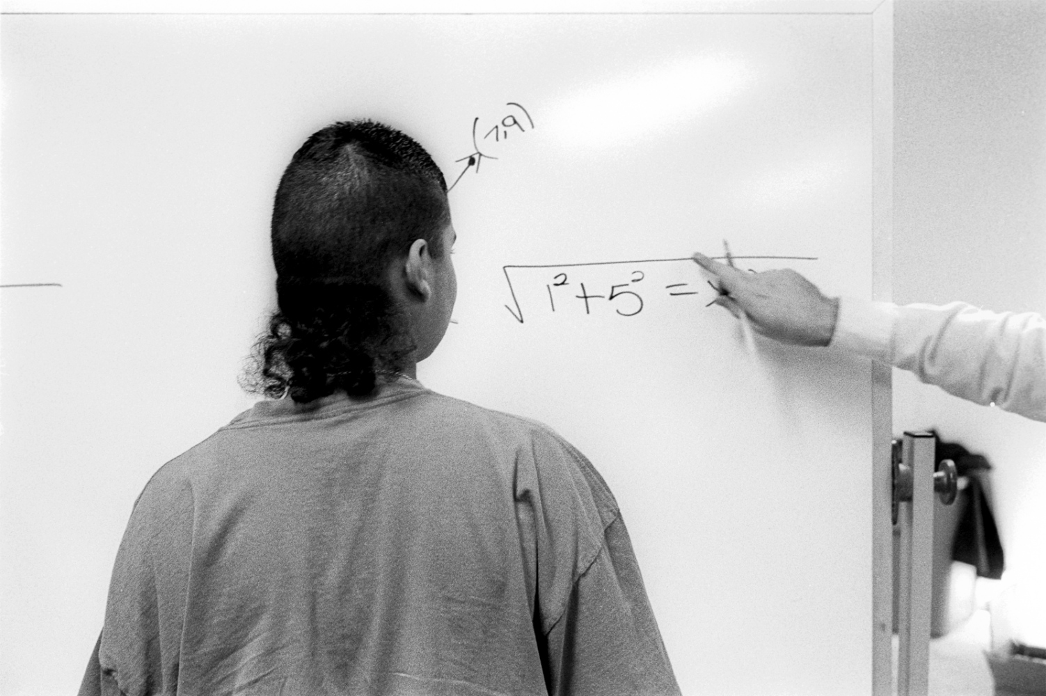 Jose learns math. Jose was later jailed for beating someone to death as part of a gang ritutual.