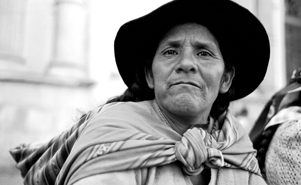 Native woman from the country-side in the Square of Sucre, where the acts of the Representative Assembly took place.