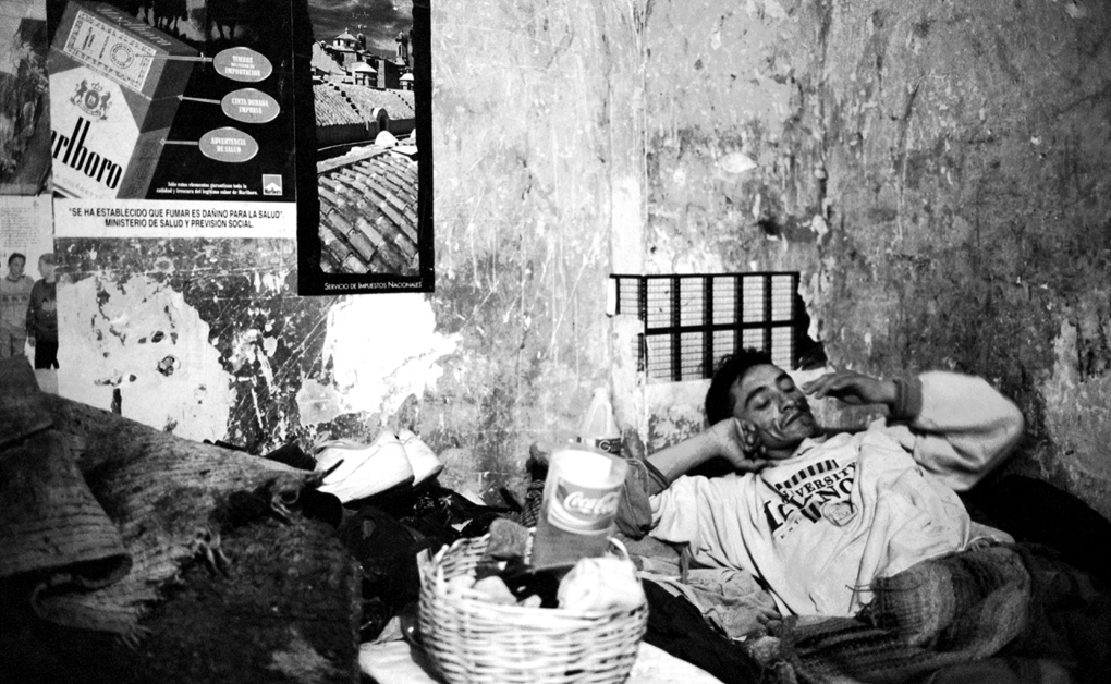 In the section called Mayo, for inmates of the lowest social class, a single prisoner is alone in a dark cell. At night, there are fifteen men inside that one cell. As the bertsolari Amuriza once put it, they have to take turns to breathe. Murder: One subsection; a prison in a prison; twenty cigarettes in a Marlboro pack. Stripping naked a single match, liberation: smoking a Marlboro.